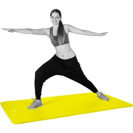Podložka na jógu a cvičení 190x60x1,5 cm, žlutá