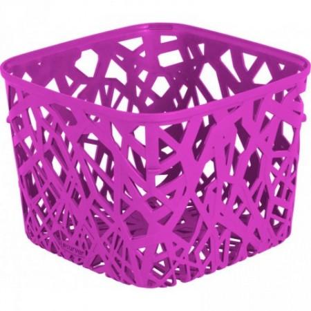 Plastový úložný designový košík na stůl, fialový