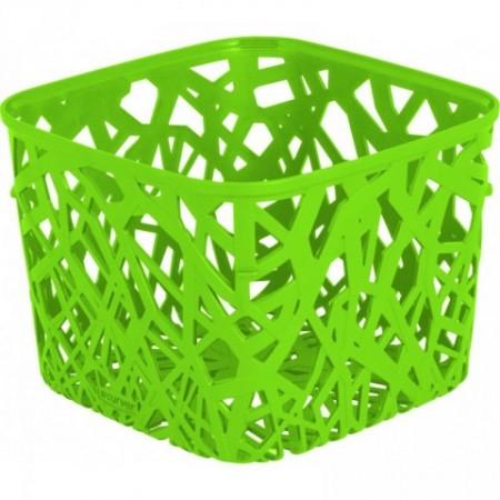 Malý plastový košík na stůl pro uložení předmětů, zelený