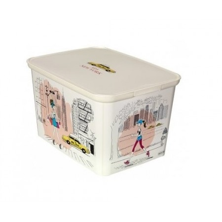 Úložný plastový box velký, potisk miss New York