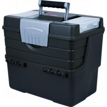 Přenosný kufr na nářadí a spojovací materiál, plast