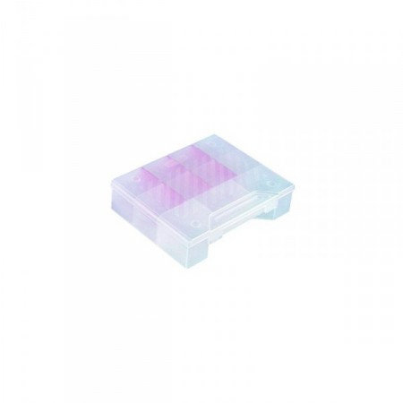 Organizér na spojovací materiál, stavitlené přihrádky, 5,2x25x18,6 cm