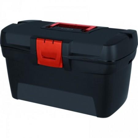 Kufr na nářadí a spojovací materiál s uchem, vyjímatelný organizér