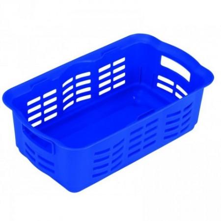 Plastový úložný košík na drobnosti, malý, modrý