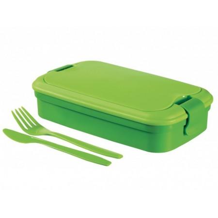 Cestovní box na jídlo vč. příboru, zelený