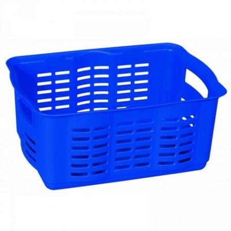 Úložný plastový košík na drobnosti, středně velký, modrý