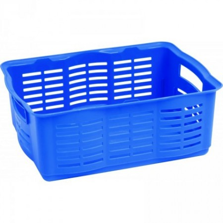 Plastový úložný košík na drobnosti, velký, modrý