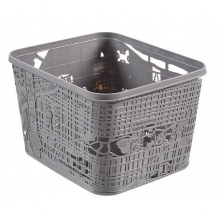 Designový úložný box, mapa New Yorku, šedý