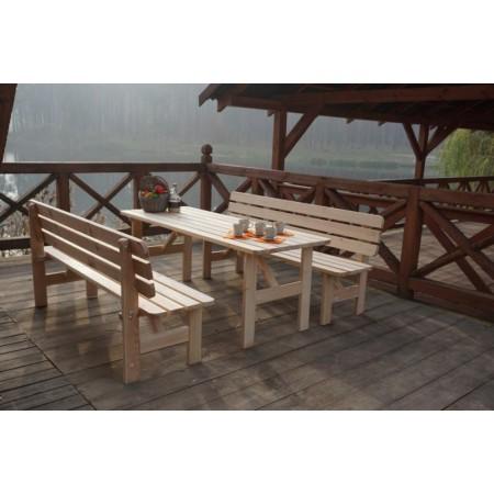 Dřevěná zahradní lavice z masivu 200 cm, přírodní borovice