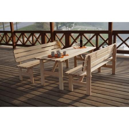 Zahradní dřevěný stůl z masivu 180 cm, přírodní borvice