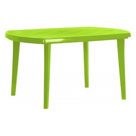 Plastový stůl oválný, otvor pro slunečník, pro 6 osob, zelený