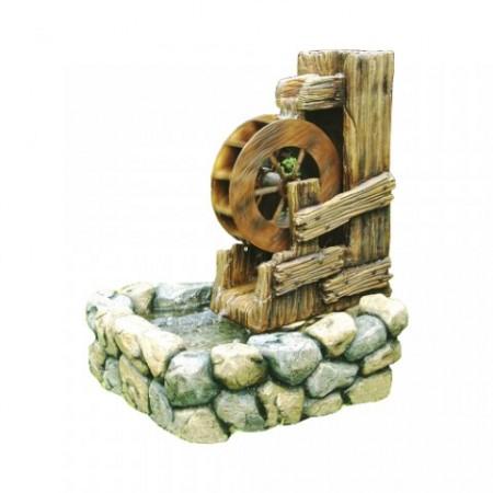 Zahradní fontána - kašna s vodním kolem
