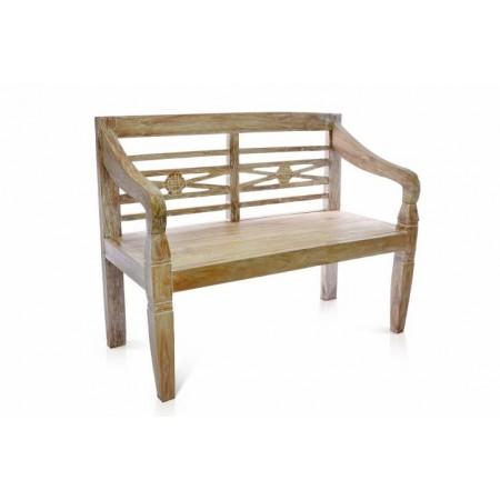 Ozdobná dřevěná zahradní lavice, tvrdé týkové dřevo, 115 cm