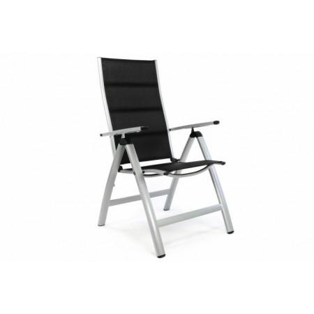 Moderní kovová zahradní židle s područkami, nastavitelná