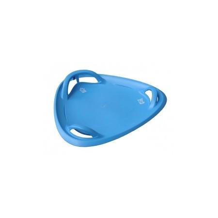 Sáňkovací talíř s úchyty a vodícími drážkami 60 cm, modrý