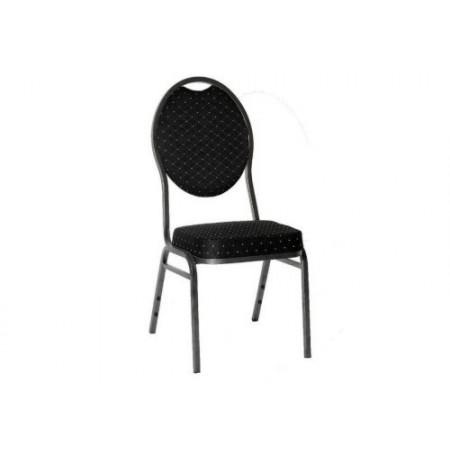 Stohovatelná kovová židle Monza, černá barva