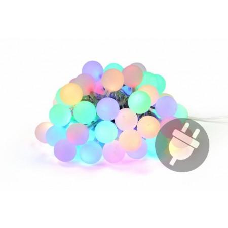 Párty osvětlení - barevný venkovní řetěz - koule s LED diodami