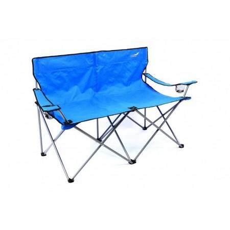 Textilní skládací lavice s kovovým rámem vč. přenosné tašky - modrá