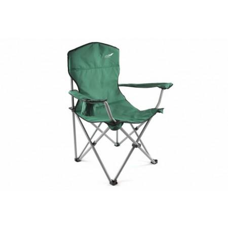 Skládací textilní židle s kovovým rámem vč. tašky - zelená