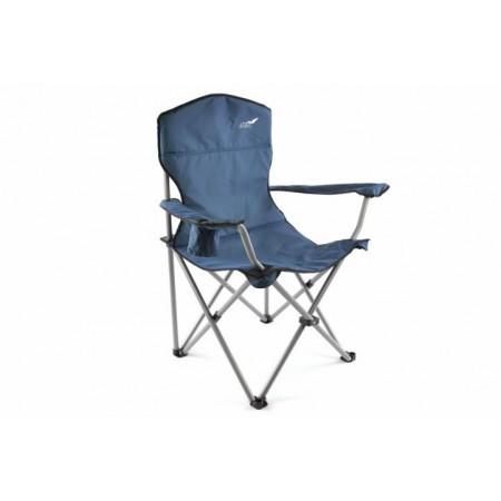Skládací textilní židle s kovovým rámem vč. tašky, modrá