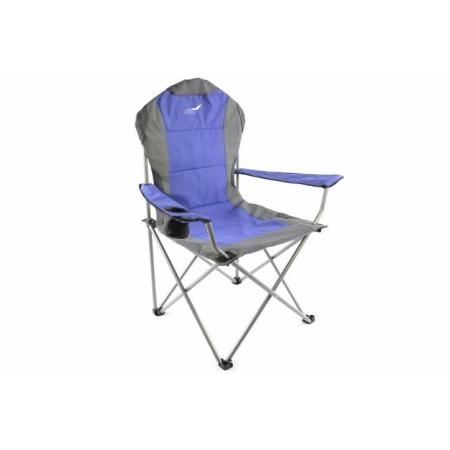 Luxusní skládací kempingová židle vč. tašky, modrá / šedá