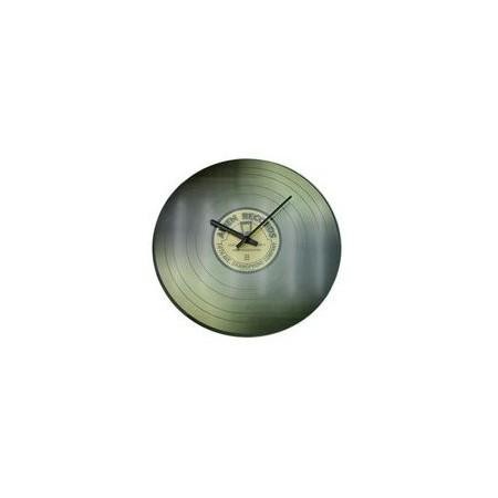 Designové nástěnné hodiny, motiv vinylové desky, 35 cm, šedé