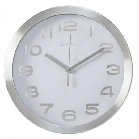 Kulaté nástěnné hodiny s velkými číslicemi 20,3 cm, bílé