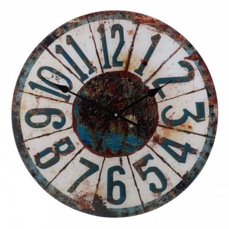 Dekorativní nástěnné hodiny 57 cm - zrezivělý vzhled