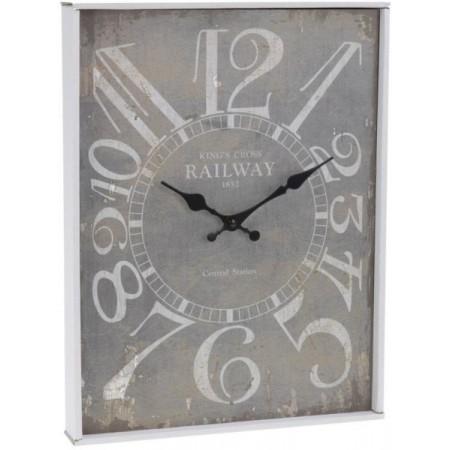 Nátěnné hodiny v historickém stylu 30x39 cm KINGS CROSS