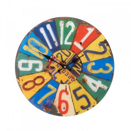 Designové kulaté nástěnné hodiny 38 cm, SUMMER