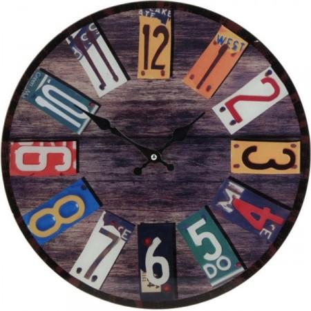 Designové kulaté nástěnné hodiny 38 cm, SPRING