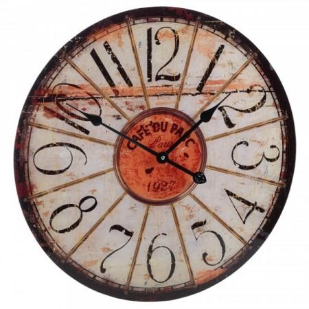 Designové skleněné nástěnné hodiny 57 cm, Café
