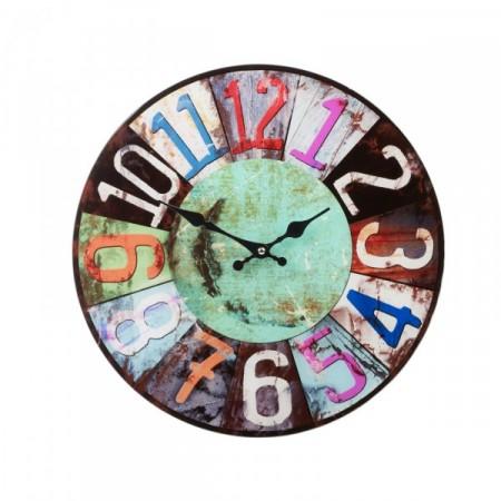 Designové kulaté nástěnné hodiny 38 cm, Winter