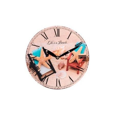 Kulaté nástěnné hodiny 23 cm, motiv hvězice