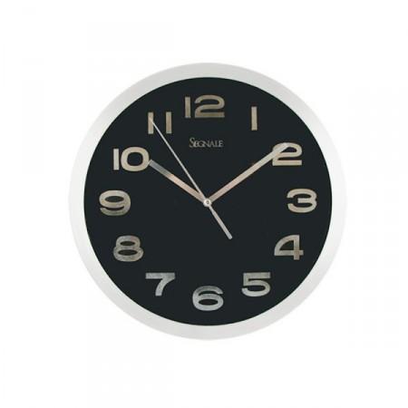 Nástěnné hodiny moderního vzhledu 20,3 cm, černé