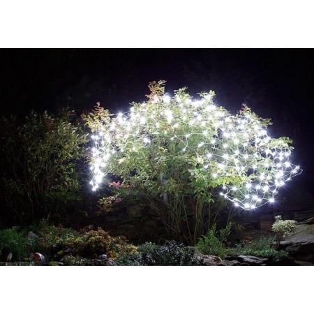 Vánoční světelná síť venkovní / vnitřní, studená bílá, LED, 1,9 x1, 2m