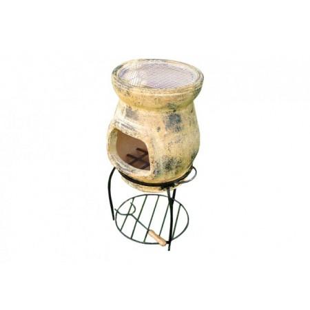 TERA Venkovní zahradní terakotový krb 80 cm