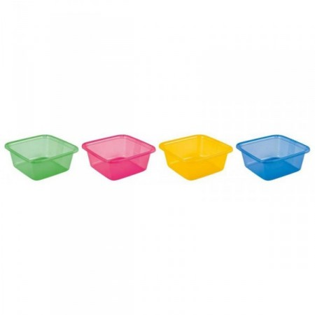 Plastové umyvadlo čtvercové 11 l, různé barvy