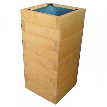 Venkovní odpadkový koš dřevěný, kov + smrkové dřevo