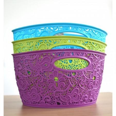Okrasný úložný košík na menší předměty, různé barvy