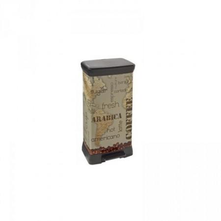 Velký ozdobný odpadkový koš 50 l, kávový