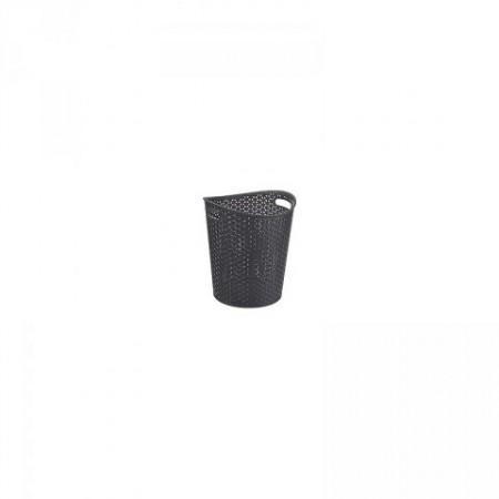 Plastový odpadkový koš na papír, černý