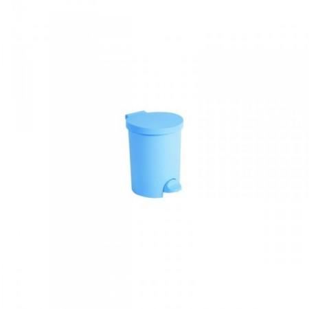 Plastový odpadkový koš kulatý pedálový 15 l, bílý