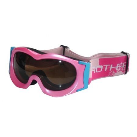 Dívčí lyžařské brýle, UV filter, antifog, růžové