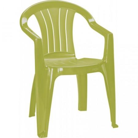 Klasické zahradní plsatové křeslo s područkami, zelené