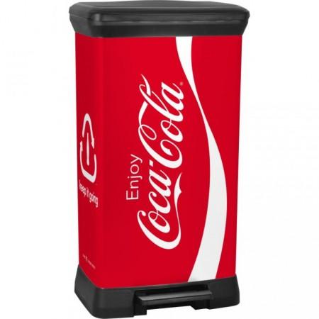 Velký odpadkový koš 50 l, černá / potisk COCA COLA