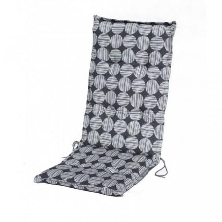 Polstrování na zahradní křeslo - vysoké, šedé, 100% bavlna