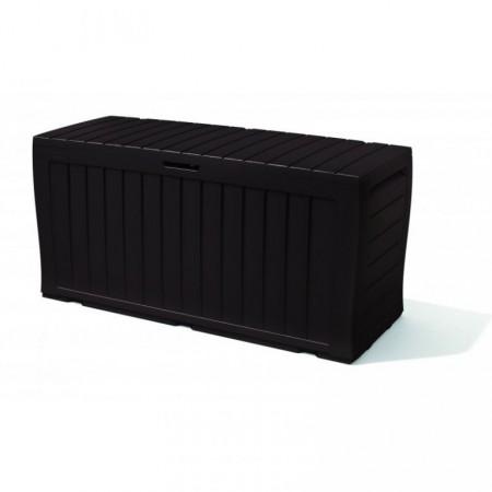 Plastový úložný box s víkem 117x45x57,5 cm, antracit