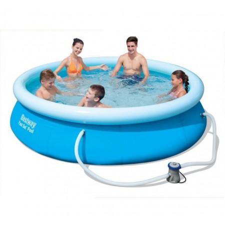 Bazén samostavěcí s nafukovacím kruhem bez filtrace 305 x 76 cm