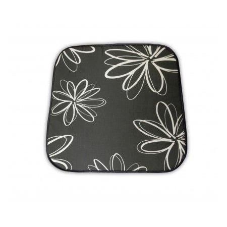 Podsedák na nábytek, šedý s květy